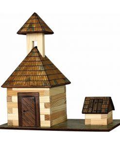 Hobby kit Campanile con pozzo kit in legno walachia 68 pezzi W