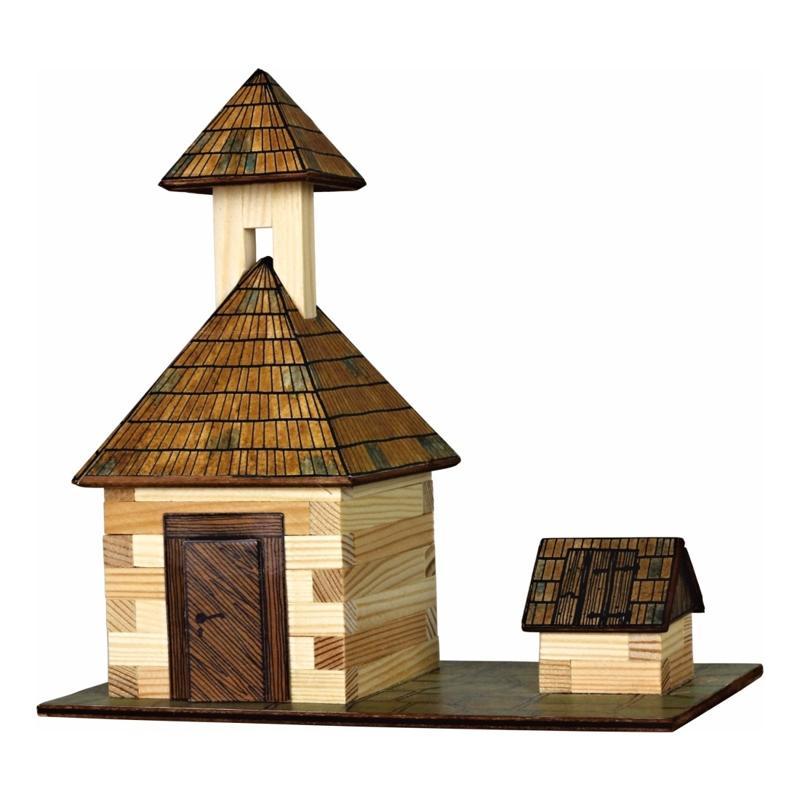 Hobby kit campanile con pozzo kit in legno walachia 68 for Hobby del legno