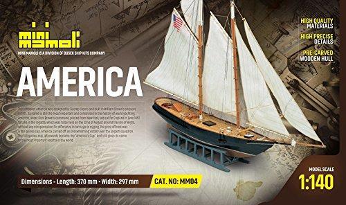 America mini mamoli kit di montaggio in legno mm04 for Piani di coperta in legno