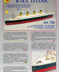 Titanic Mantua Model Panart: kit di montaggio n.5 art 729