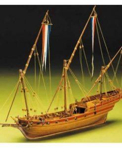 Sciabecco Francese kit di montaggio in legno Mantua Model Sergal art 795
