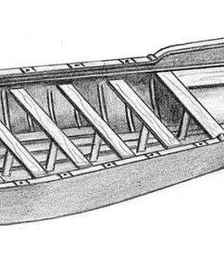 Scialuppa antica in legno e metallo amati art 4302