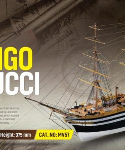 Amerigo Vespucci Mamoli: kit di montaggio in legno MV57