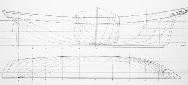 Disegno e pittura delle linee d'acqua nel modellismo navale