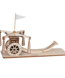 Carro con mazze ruotanti di Leonardo da Vinci: Riciclandia