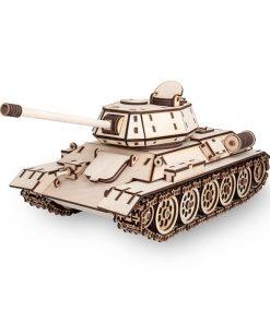 Tank T-34 modellino in legno: EWA Eco Wood Art