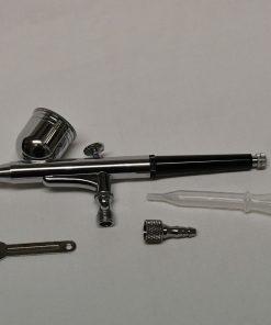Aeropenna PRO metallo per piccole finiture doppio effetto a cduta. Funziona con una pressione d'aria di almeno 0,8 bar