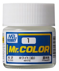 1 white flat Mr hobby colore acrilico