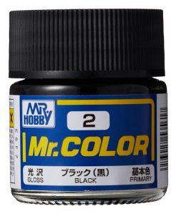 2 black flat Mr hobby colore acrilico