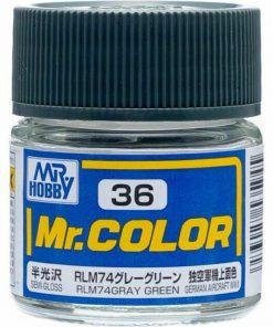36 gray green flat Mr hobby colore acrilico