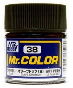 38 olive drab flat Mr hobby colore acrilico