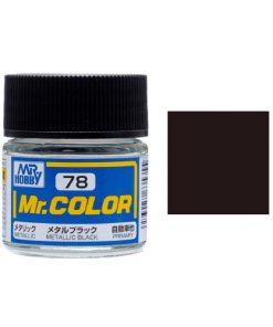78 metal black flat Mr hobby colore acrilico
