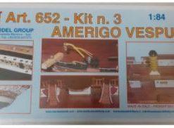 Amerigo Vespucci 1/84 kit 3 Mantua Model Panart art 652