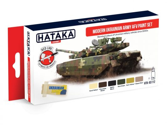 Hataka Hobby HTK-AS112 Modern Ukrainian Army AFV paint set