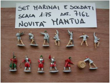 Serie 13 marinai e soldati in scala 1:75 art 7162