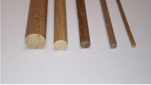 Tondini legno noce 10x1000 mm mantua model art 89107
