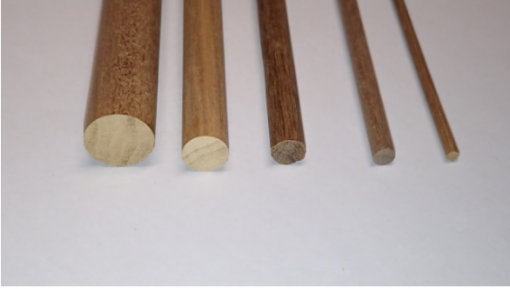 Tondini legno noce 12x1000 mm mantua model art 89108